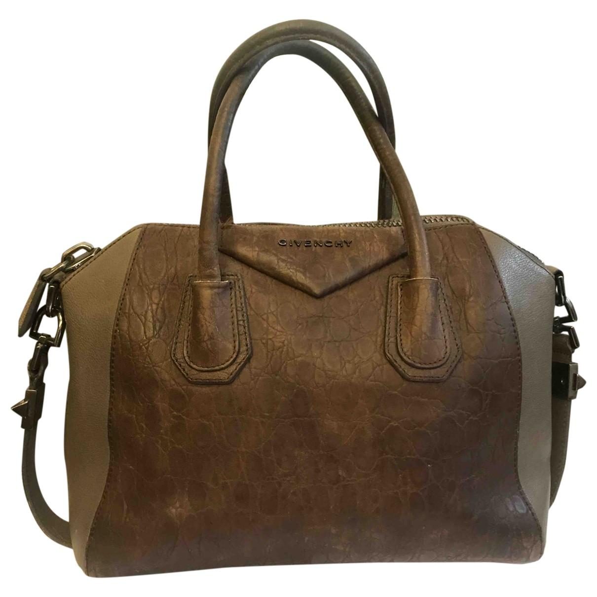 Givenchy Antigona Handtasche in  Braun Leder