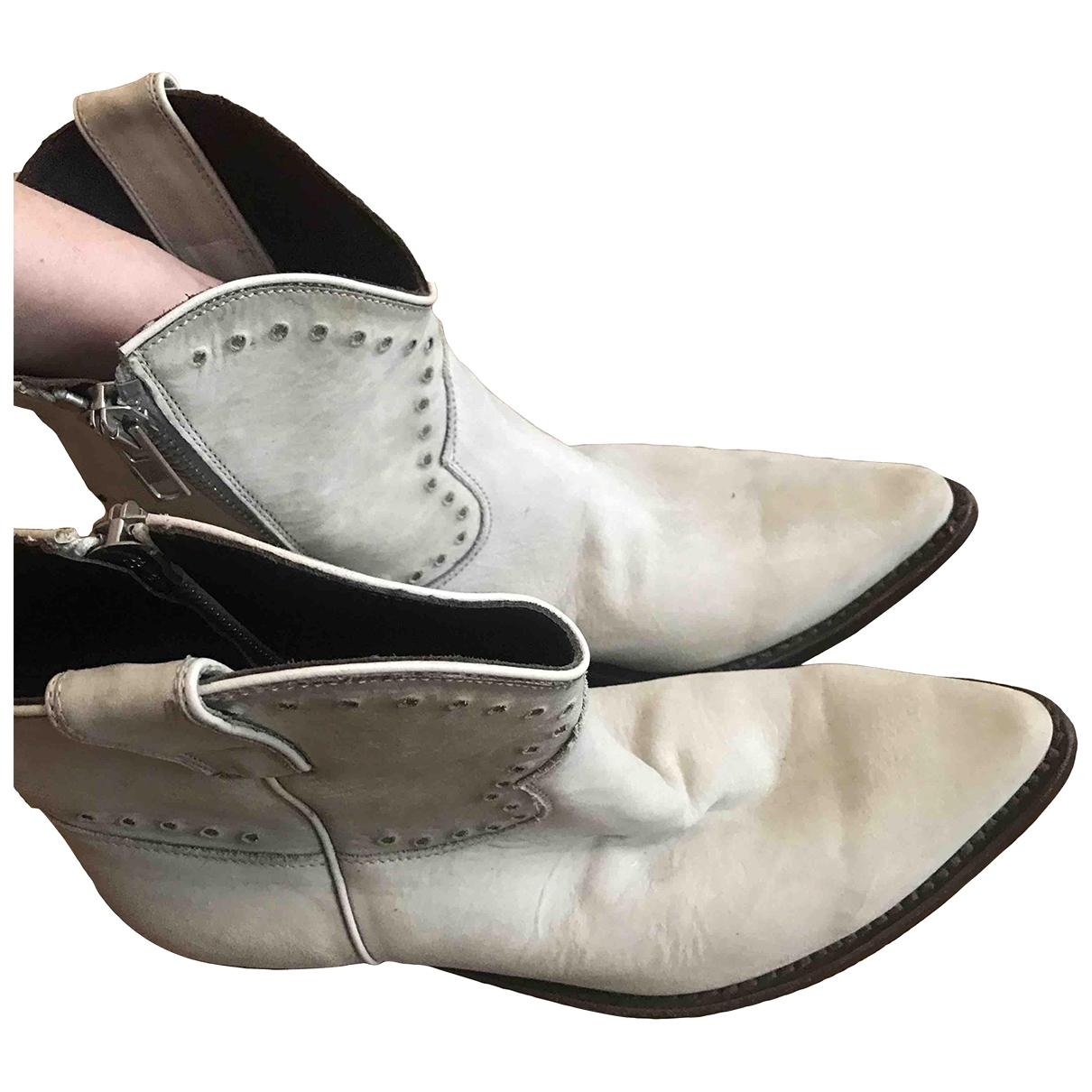Golden Goose - Bottes   pour femme en suede - blanc