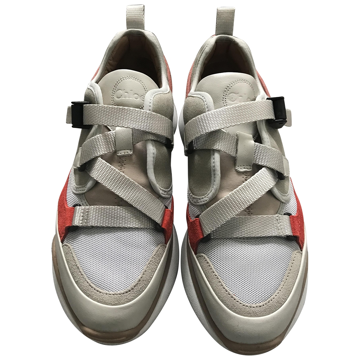 Chloe Sonnie Sneakers in  Beige Leinen