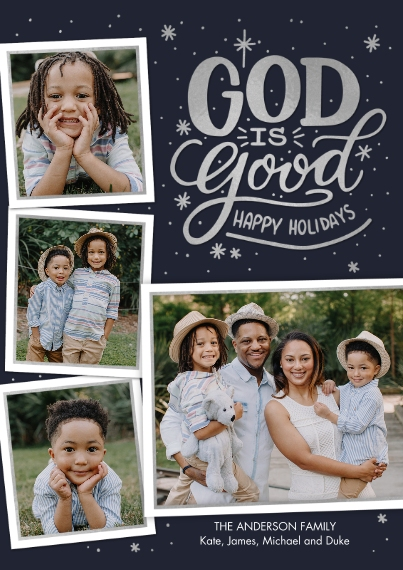 Christmas Photo Cards Flat Matte Photo Paper Cards with Envelopes, 5x7, Card & Stationery -Christmas God is Good Snapshots by Tumbalina