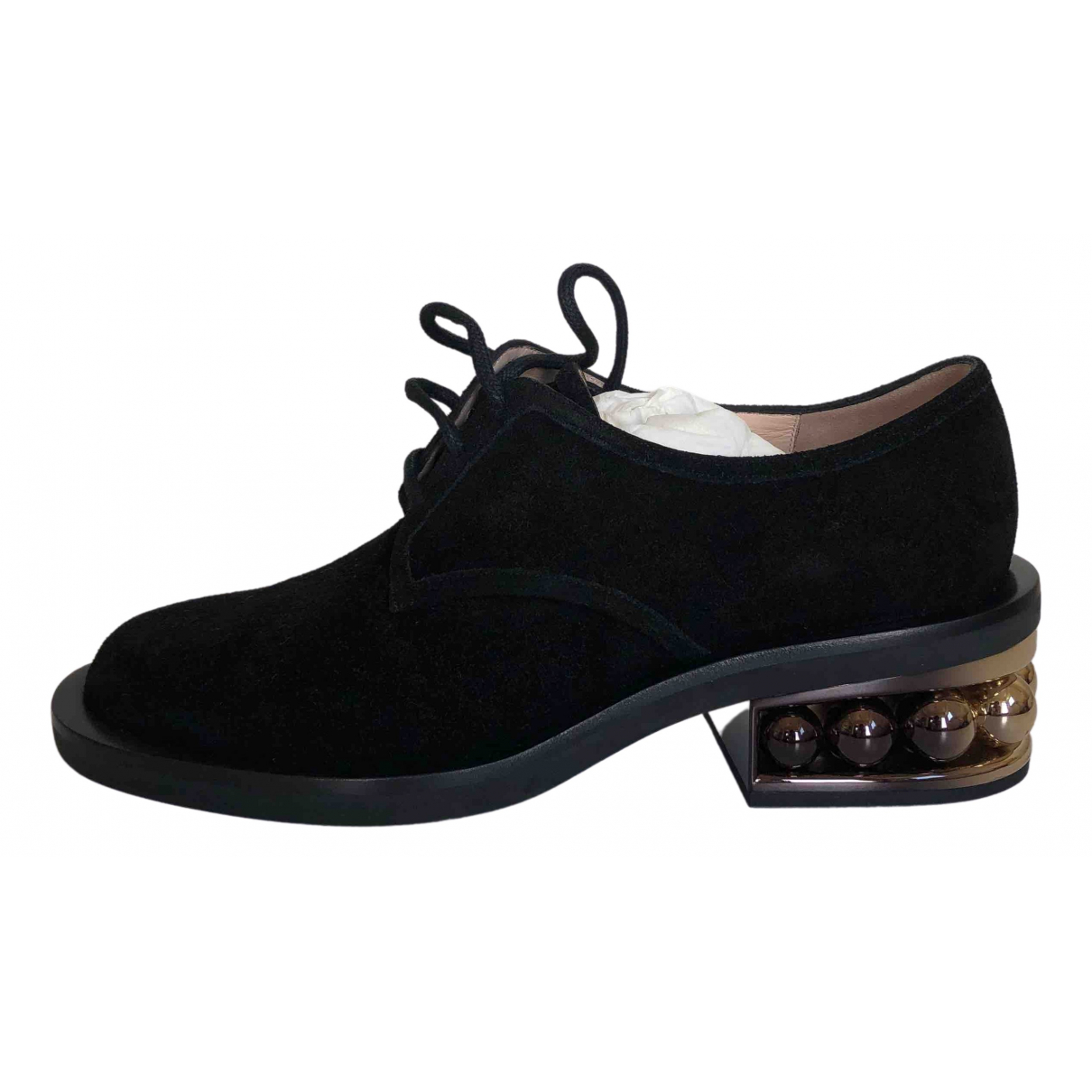 Nicholas Kirkwood \N Black Suede Lace ups for Women 37 EU