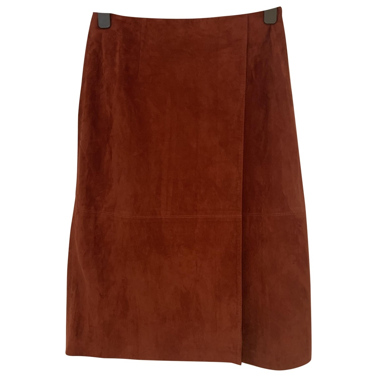 Lk Bennett \N Burgundy Suede skirt for Women 12 UK