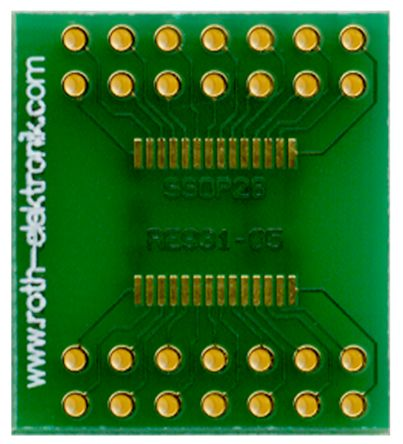 Roth Elektronik Surface Mount (SMT) Board SSOP Epoxy Glass Double-Sided 20.95 x 23.5 x 1.5mm FR4