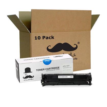 Compatible Canon 131C 6271B001AA Cyan Toner Cartridge - Moustache@ - 10/Pack