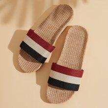 Men Colorblock Wide Fit Slippers