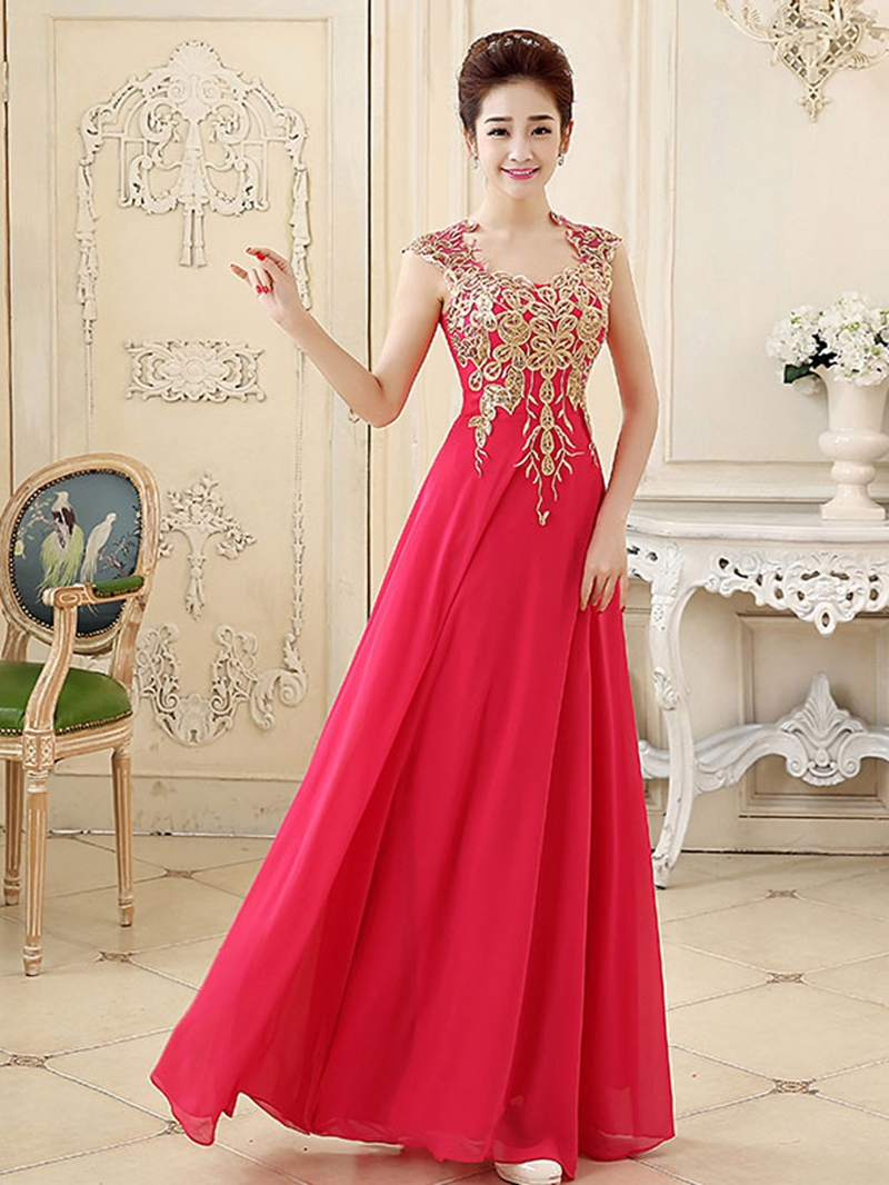 Ericdress Sophisticated A-Line Floor-Length Prom Dress