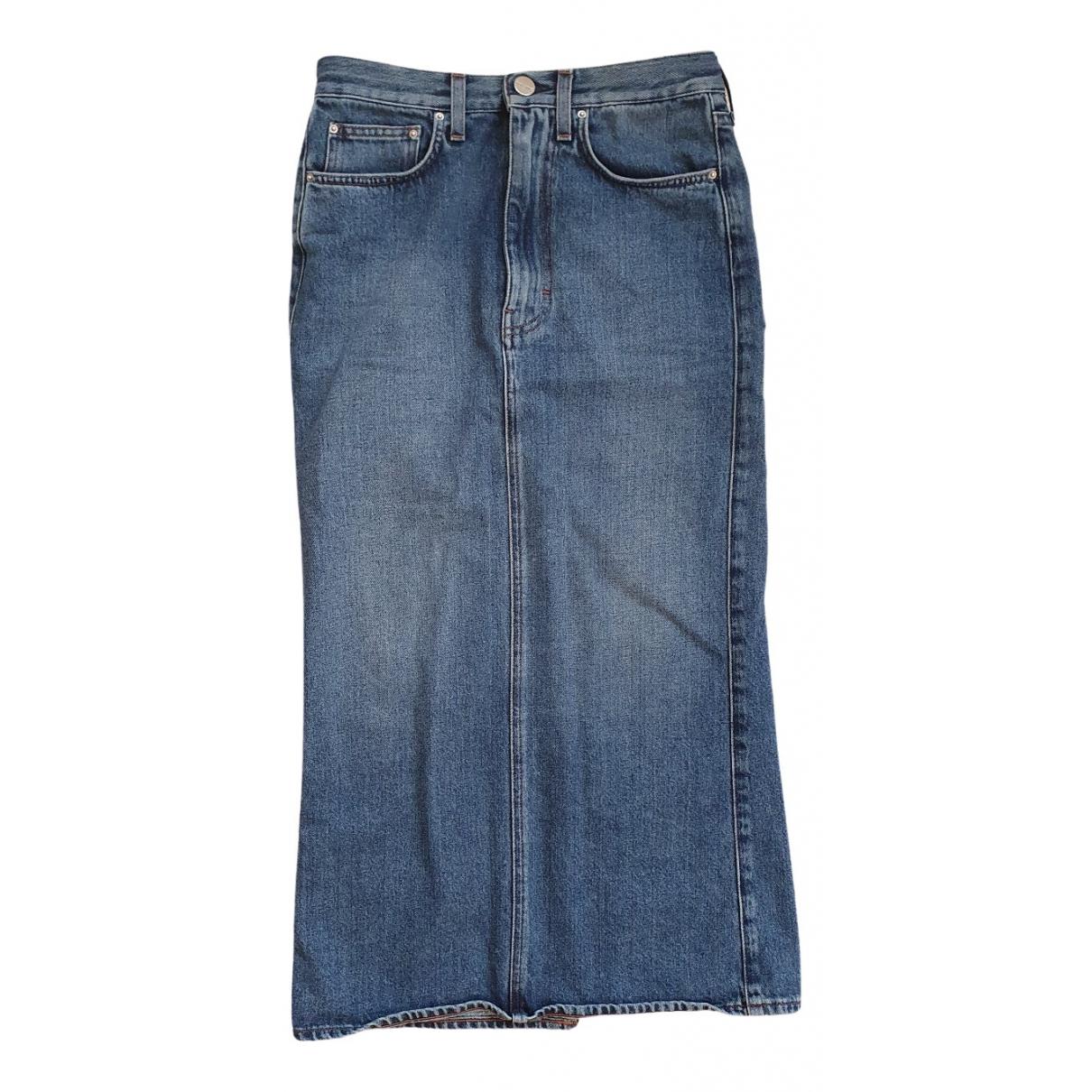 Toteme - Jupe   pour femme en coton - bleu