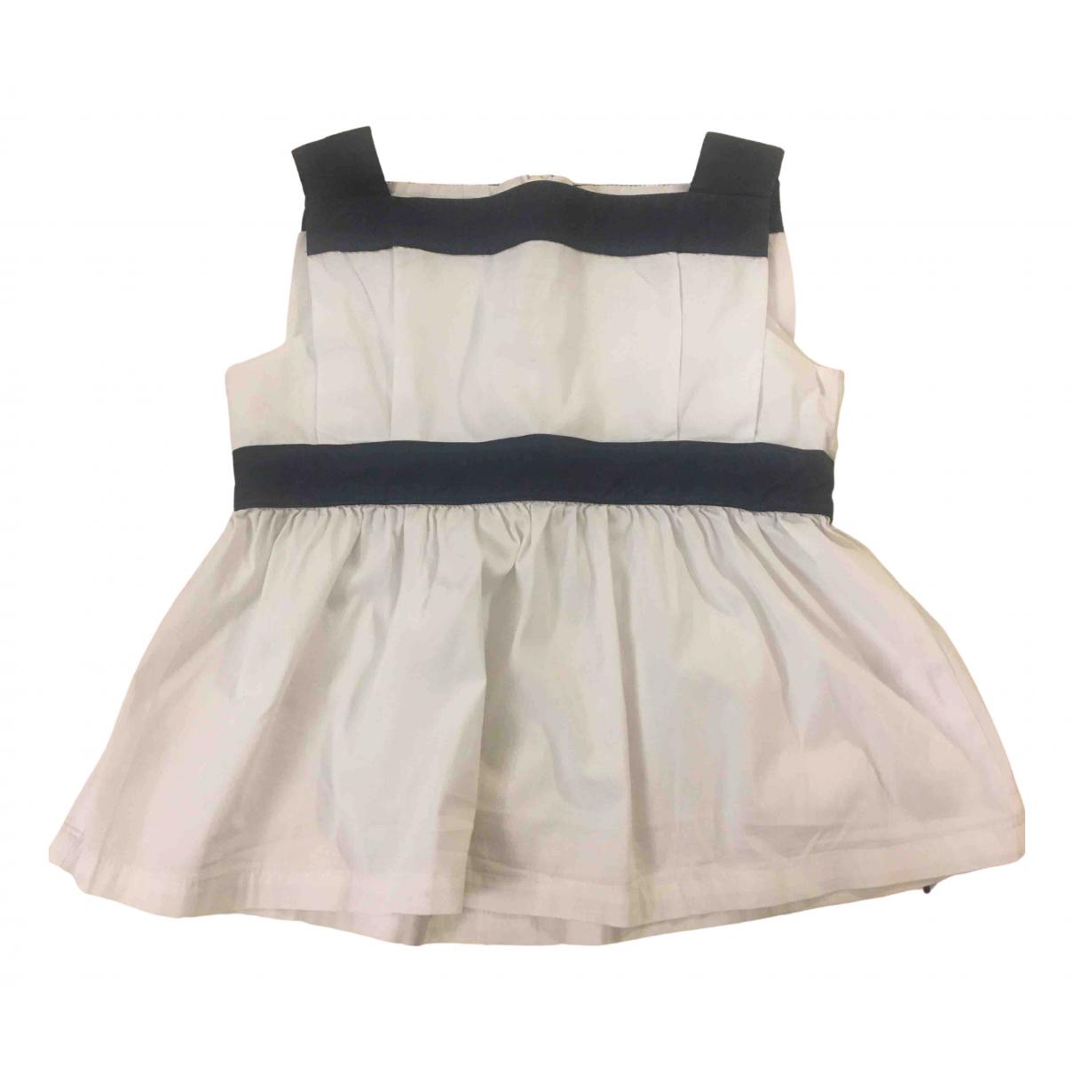 Il Gufo - Top   pour enfant en coton - blanc