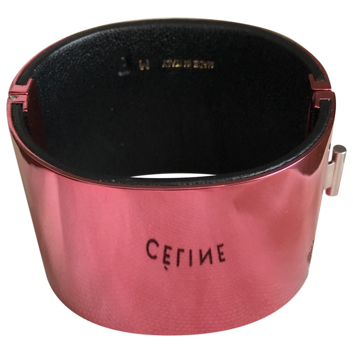 Celine Minimal Armband in  Rosa Metall