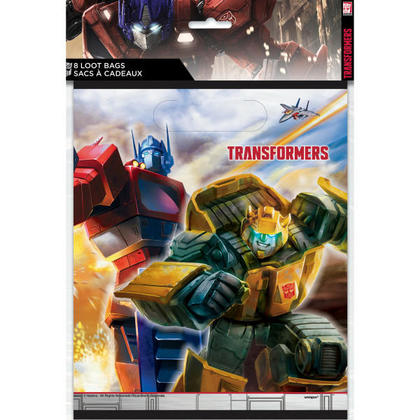 Transformers Loot Bags, 8ct For Birthday Party