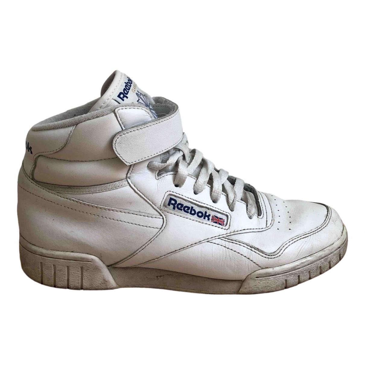 Reebok \N White Leather Trainers for Women 40 EU