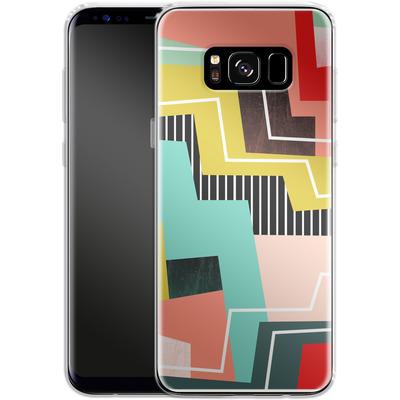 Samsung Galaxy S8 Silikon Handyhuelle - Color Block I von Susana Paz