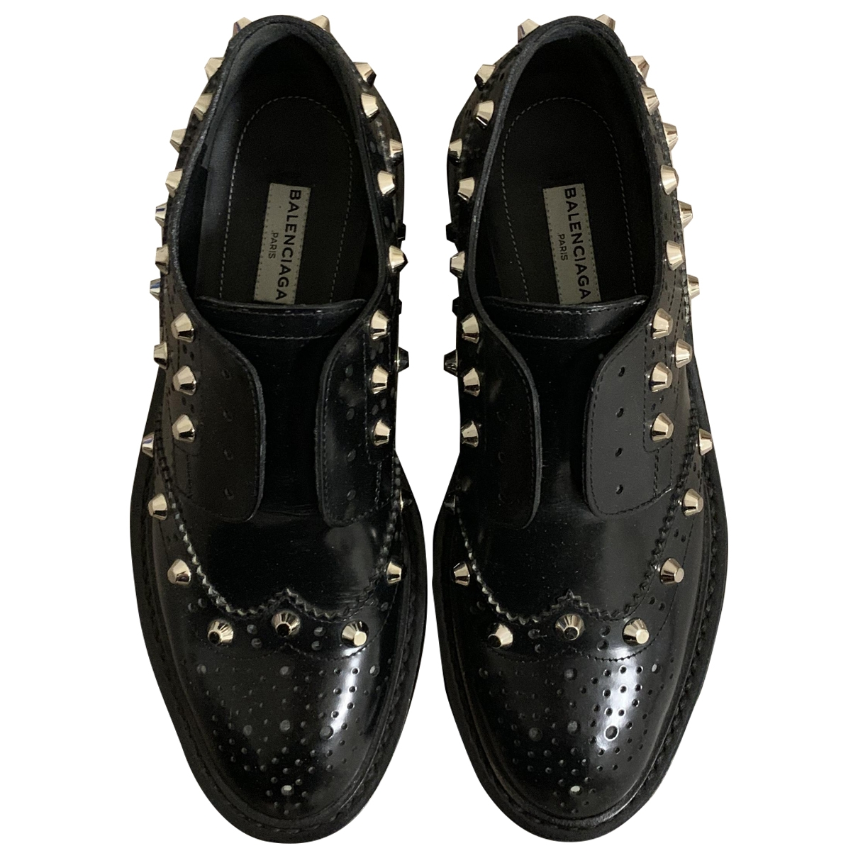 Balenciaga \N Black Leather Lace ups for Women 36 EU