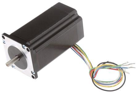 RS PRO Unipolar Bipolar, Unipolar Stepper Motor 1.8°, 1.76Nm, 5.1 V dc, 3 A, 6 Wires