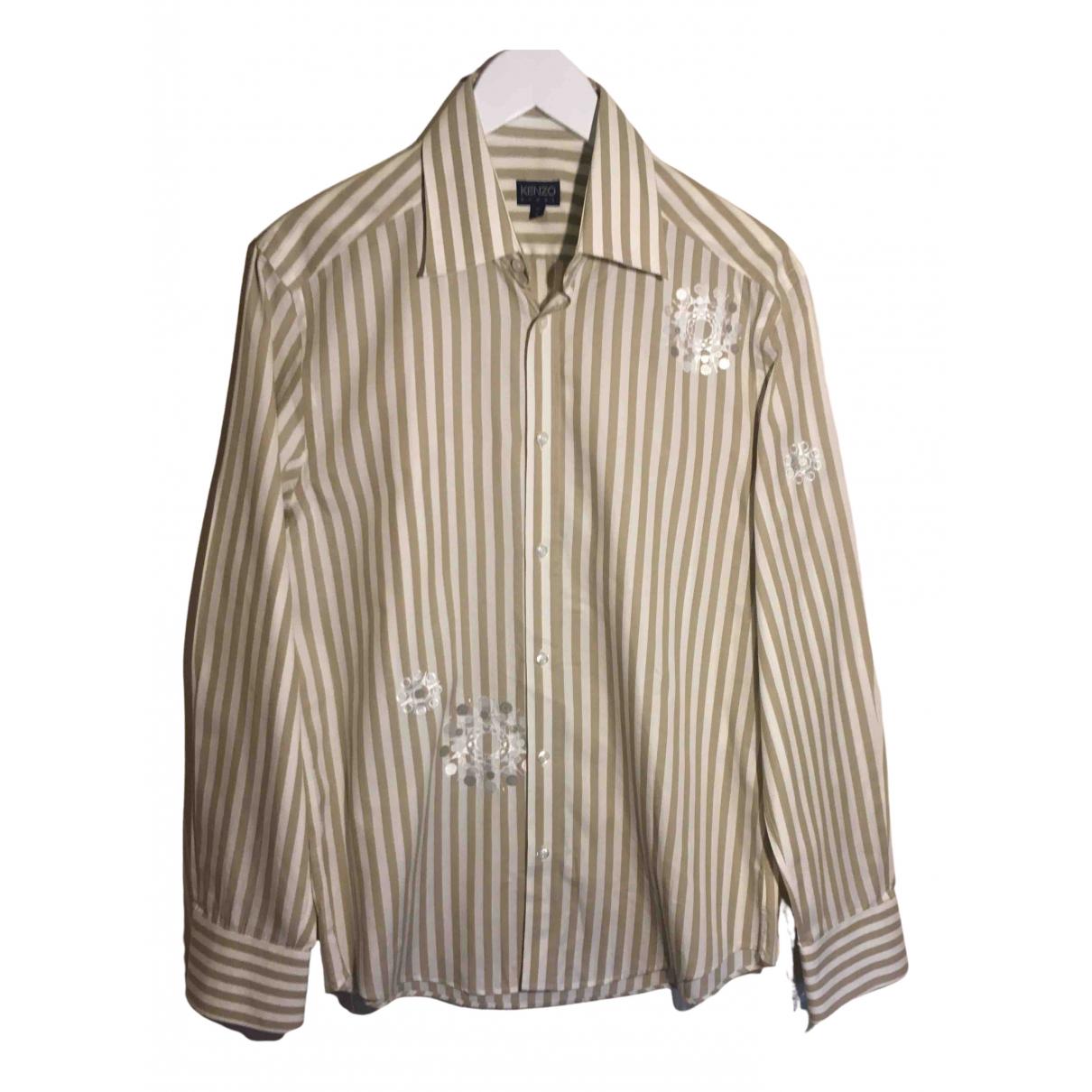 Kenzo - Chemises   pour homme en coton - beige