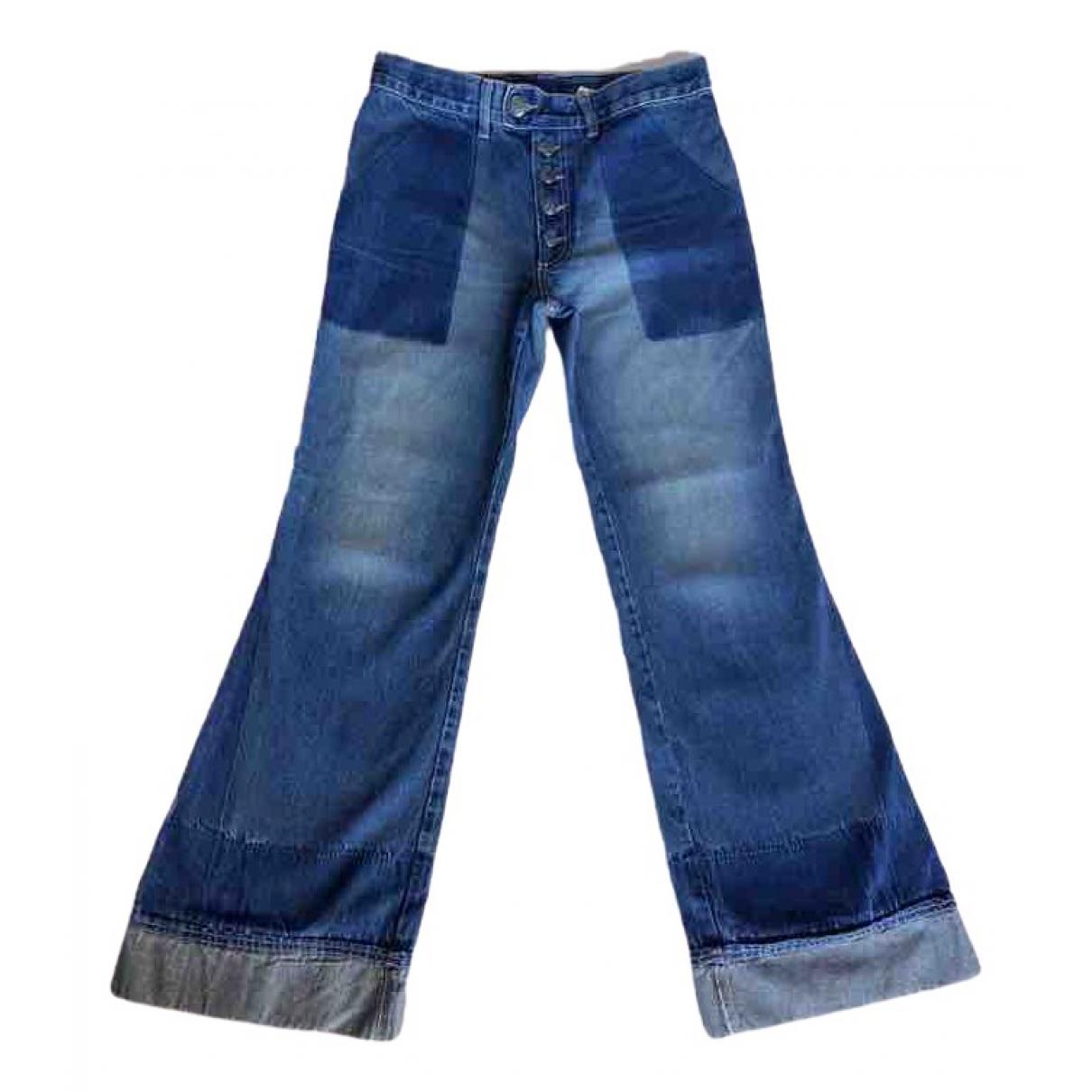 Jean Paul Gaultier \N Blue Cotton Jeans for Women 38 FR