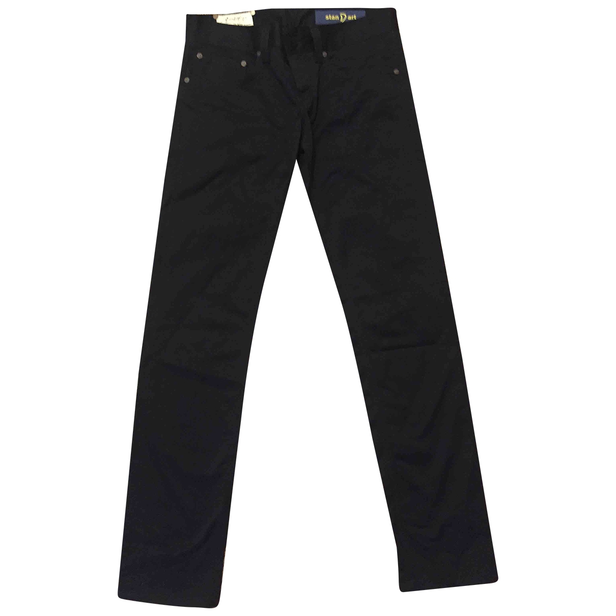 Dondup \N Blue Cotton Trousers for Women 36 FR