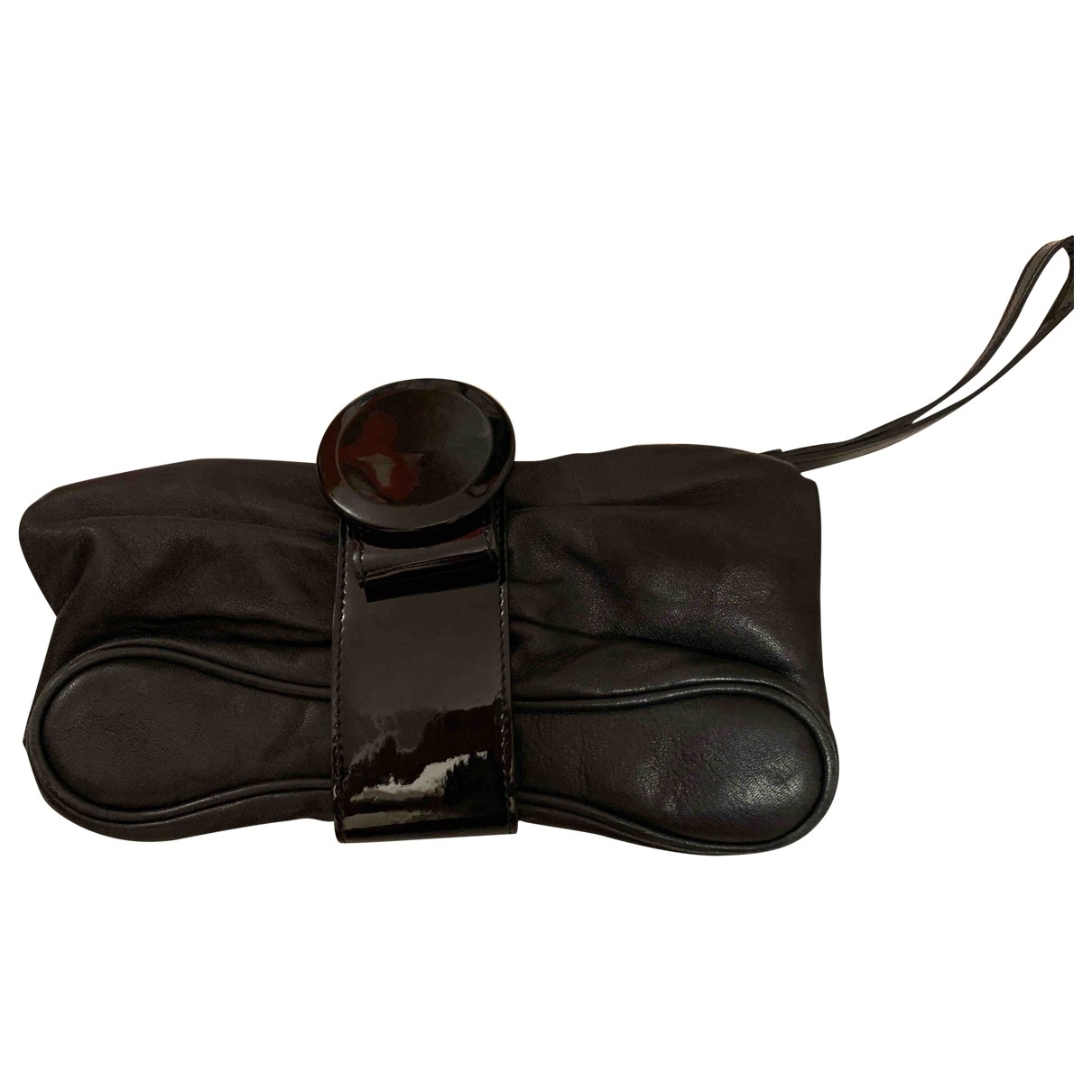 Giorgio Armani \N Black Leather Clutch bag for Women \N
