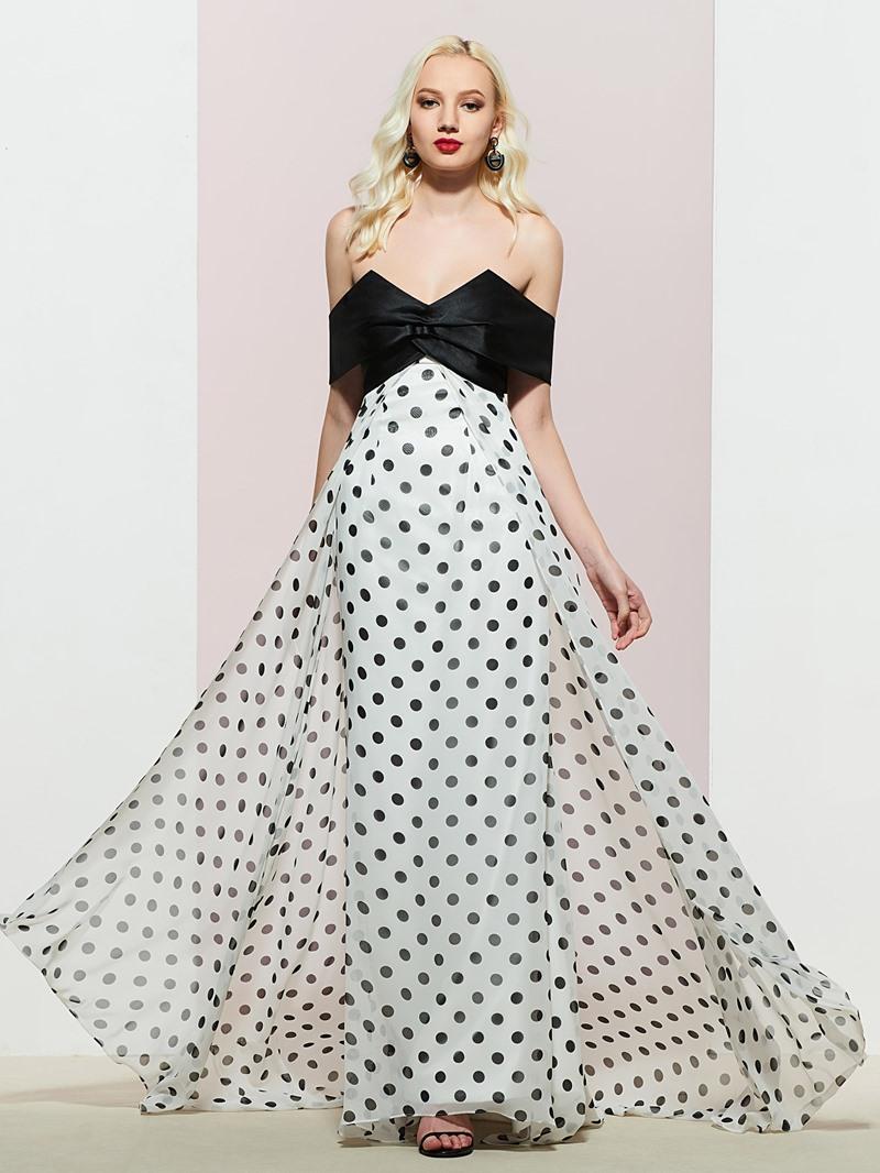 Ericdress A-Line Floor-Length Tiered Sweetheart Evening Dress