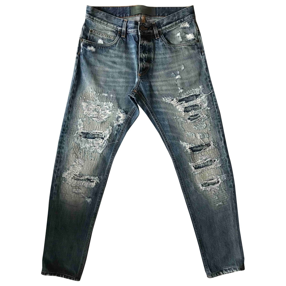 Dolce & Gabbana \N Blue Cotton Jeans for Men 32 US