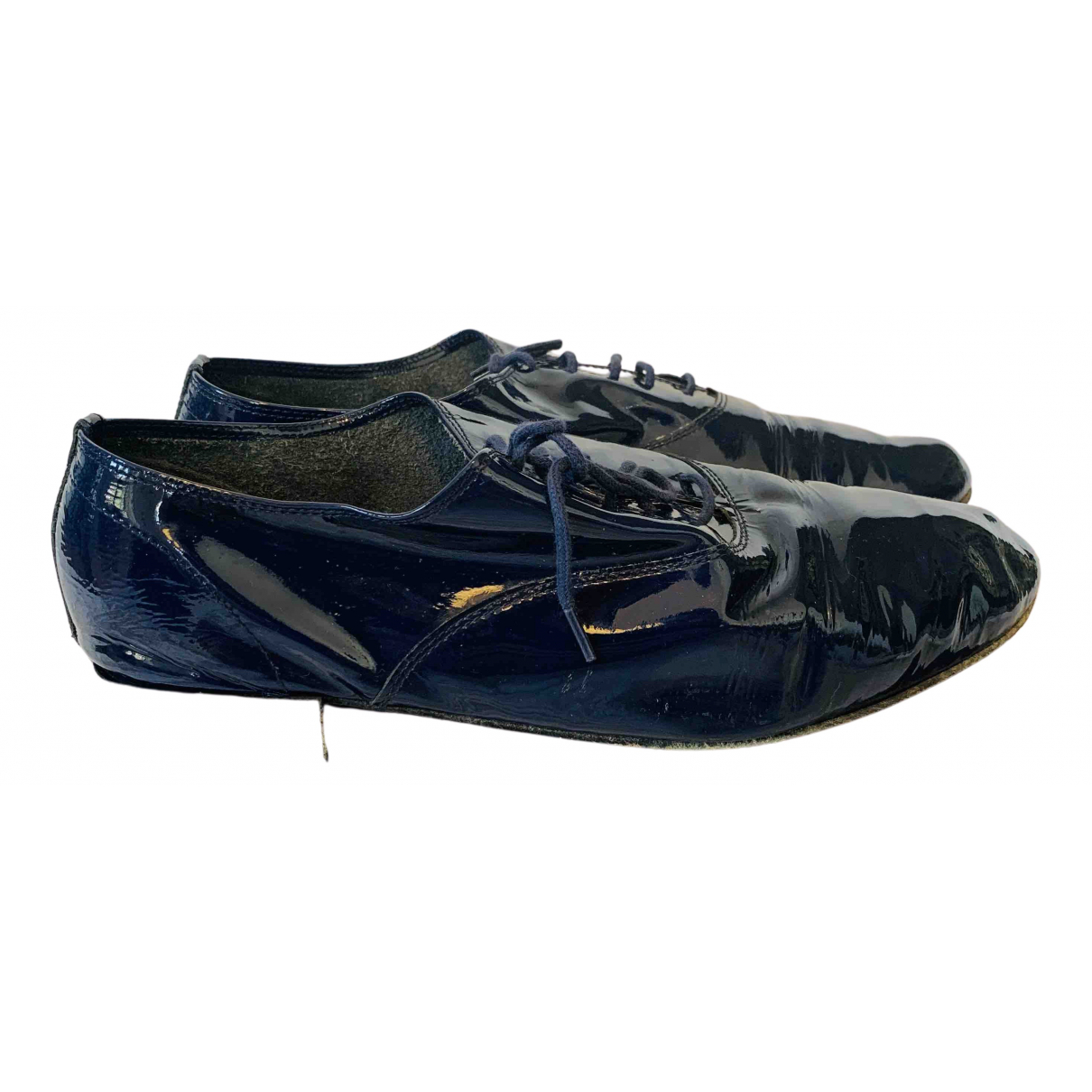 Repetto N Blue Patent leather Lace ups for Women 41 EU