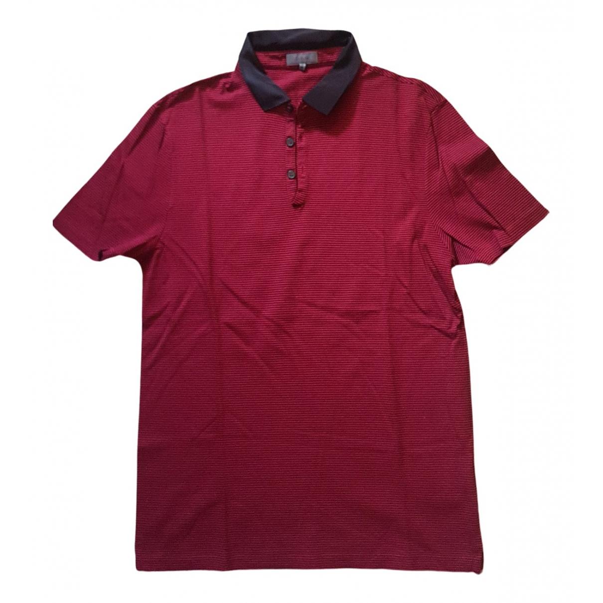 Lanvin - Polos   pour homme en coton - bordeaux