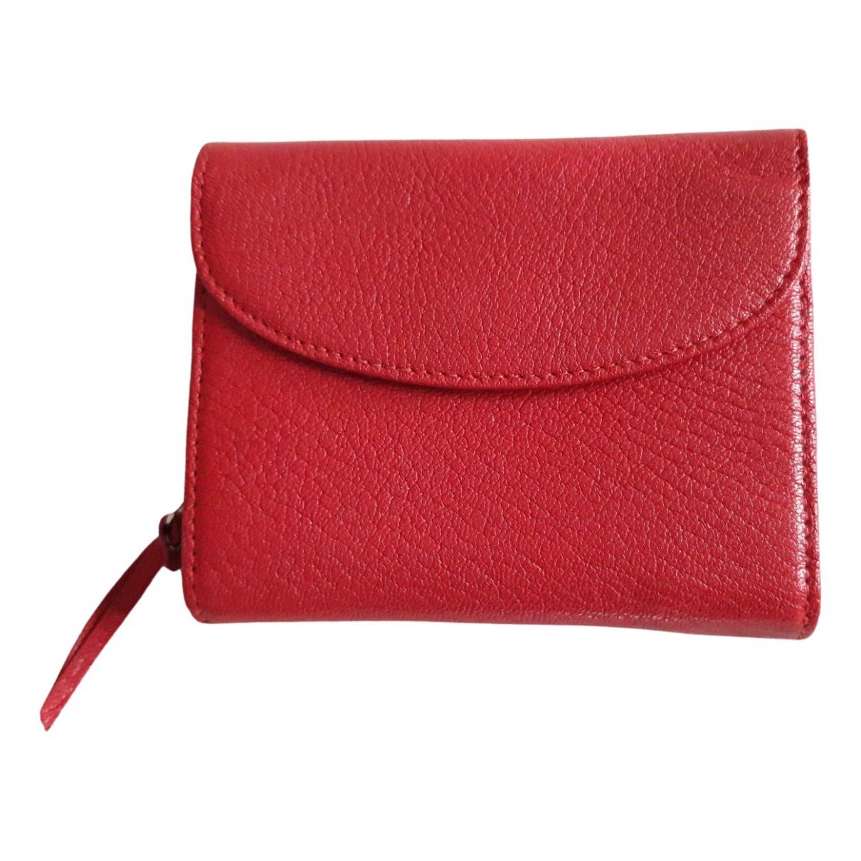 Mignon \N Portemonnaie in  Rot Leder