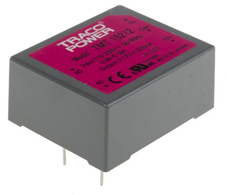 TRACOPOWER , 15W Embedded Switch Mode Power Supply SMPS, ±12V dc, Encapsulated, Medical Approved