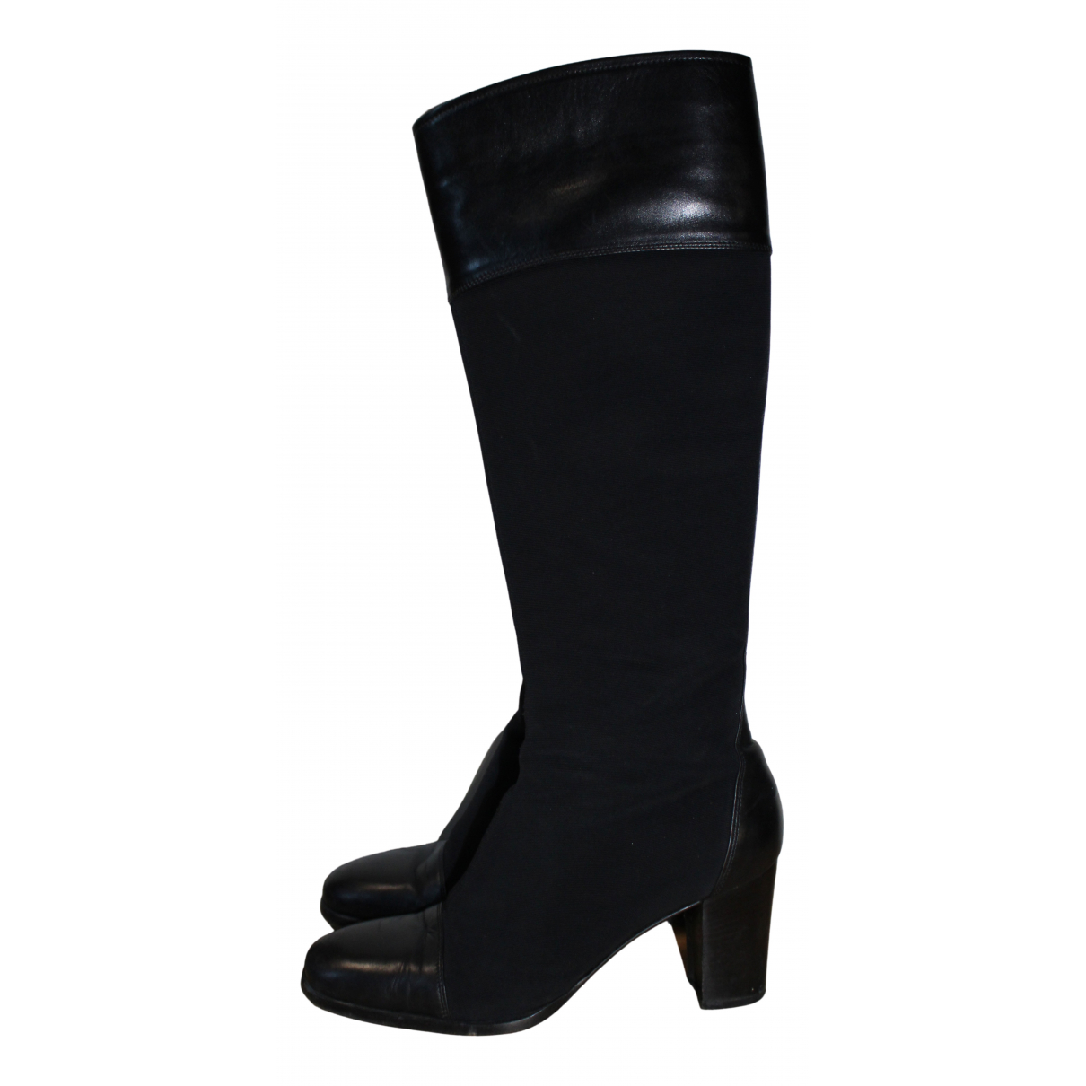 Dolce & Gabbana - Bottes   pour femme en cuir - noir