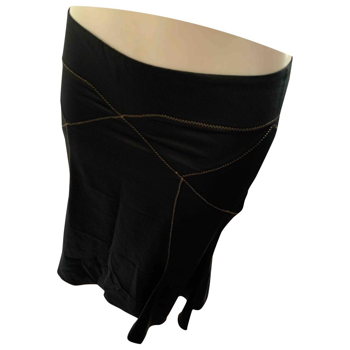 Just Cavalli \N Black Cotton - elasthane skirt for Women 40 IT