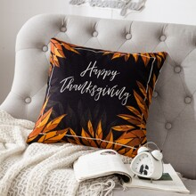 Thanksgiving Day Slogan Graphic Cushion Cover Without Filler