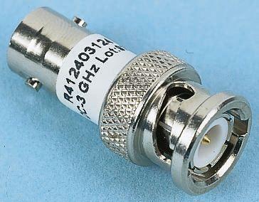 Radiall 50Ω RF Attenuator Straight BNC Connector BNC Plug to BNC Socket 3dB, Operating Frequency 3GHz