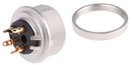 Lumberg , KGV 4 Pole Din Socket Socket, DIN EN 60529, 5A, 250 V ac IP40
