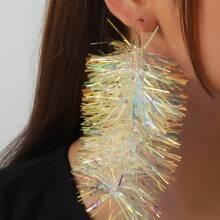 Weihnachten Ohrringe mit buntem Quasten Dekor