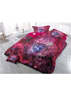 Super Cool Starry Sky Wear-resistant Breathable High Quality 60s Cotton 4-Piece 3D Bedding Sets
