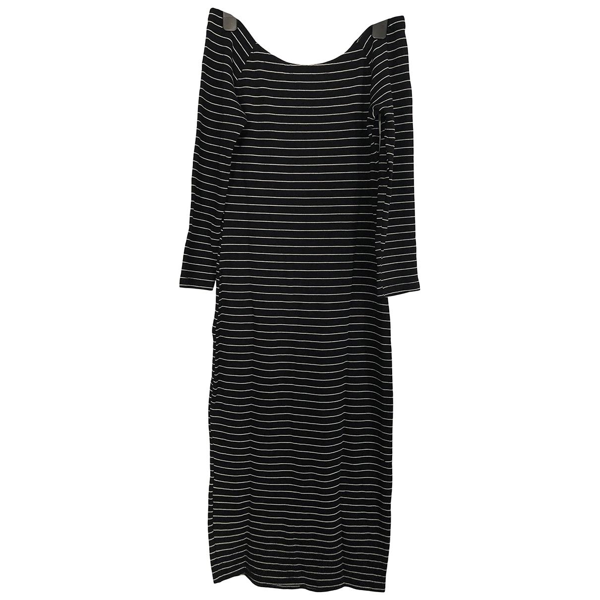Zara - Robe   pour femme en coton - elasthane - marine