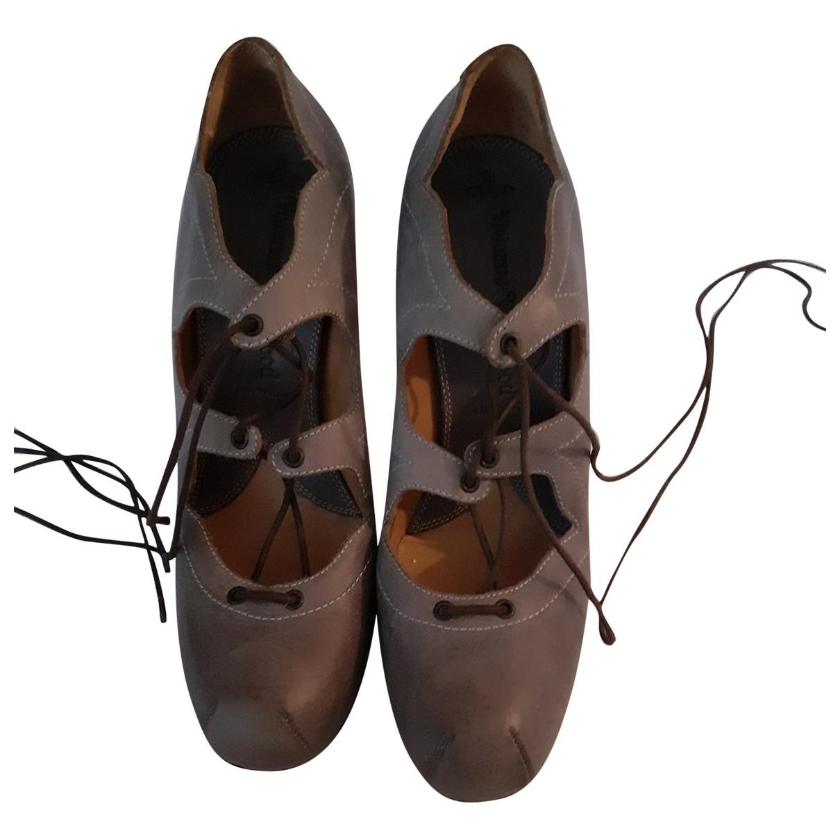 Vivienne Westwood \N Grey Leather Heels for Women 40 EU