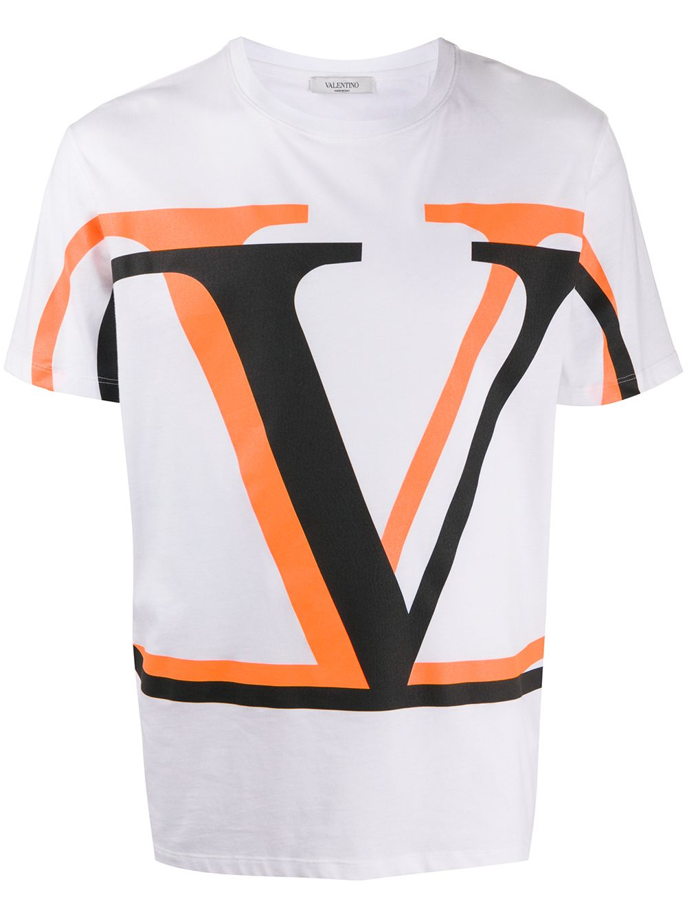 T-shirt In Cotone Con Stampa Vltn