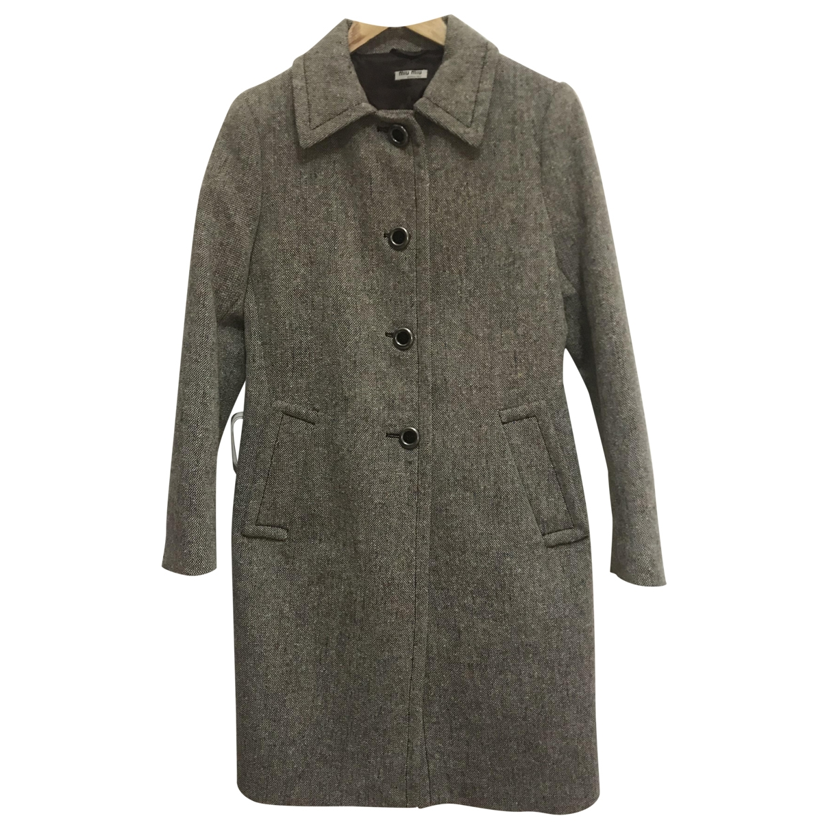 Miu Miu \N Multicolour Wool coat for Women 42 IT