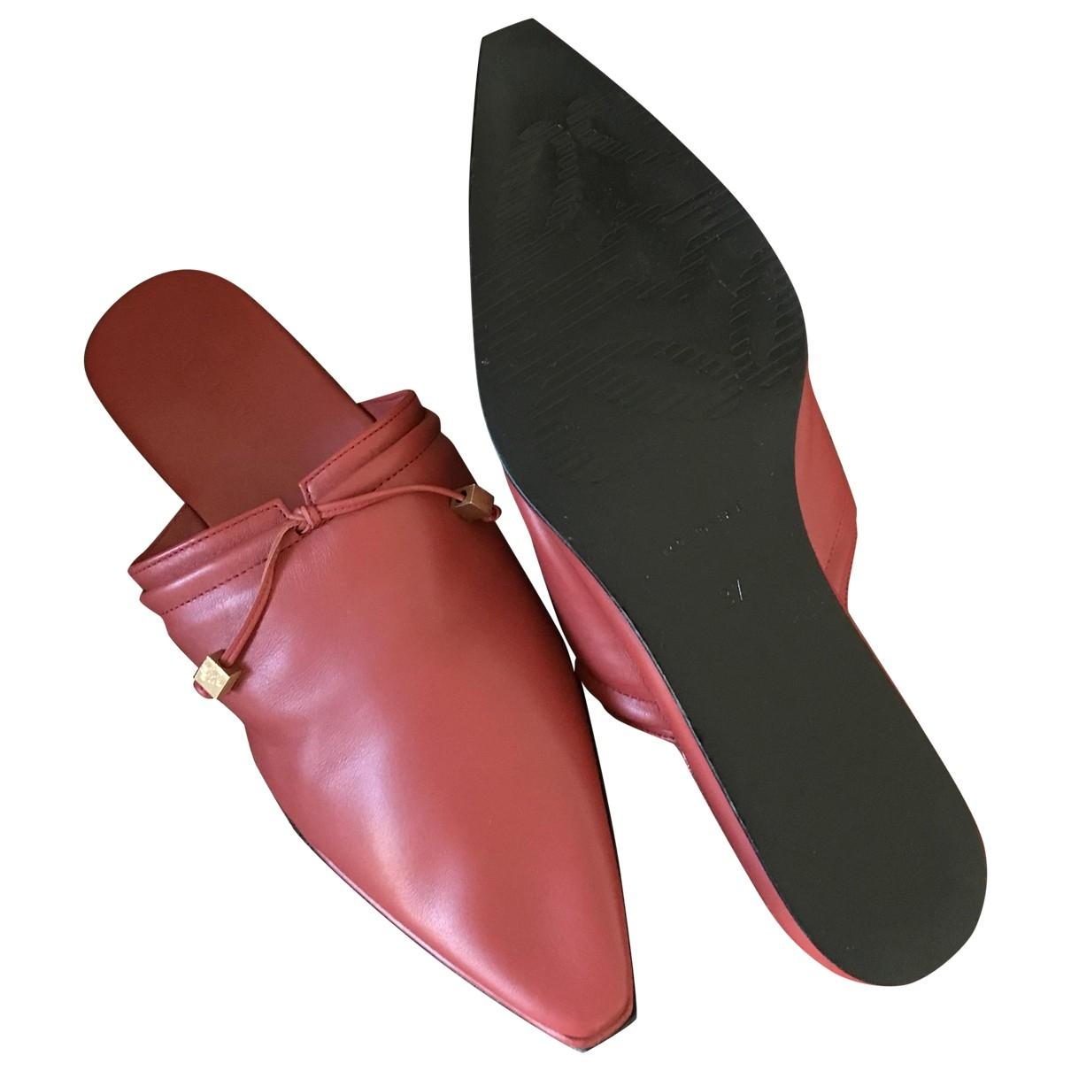 Loewe - Sabots   pour femme en cuir - rouge