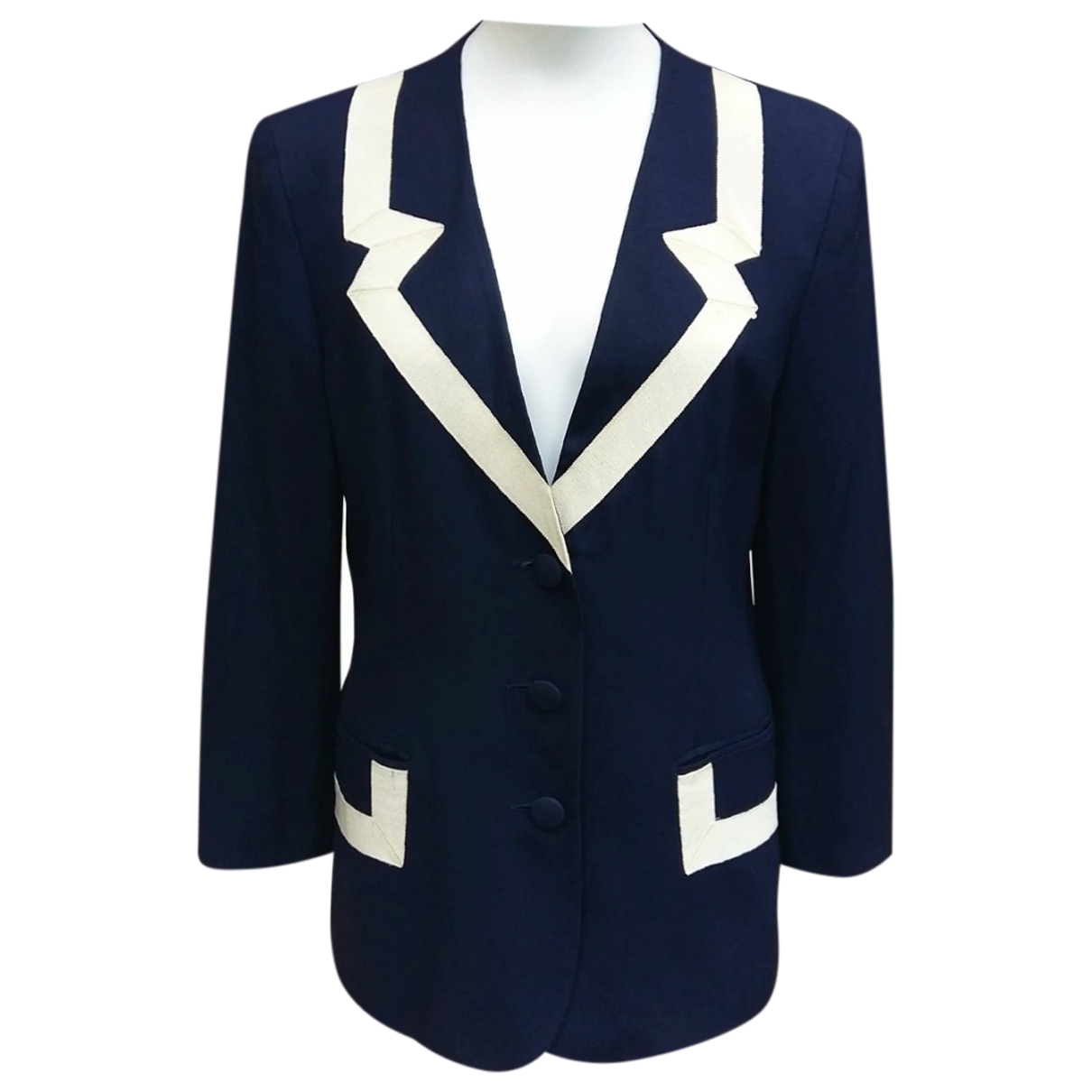 Moschino Cheap And Chic \N Jacke in  Marine Synthetik