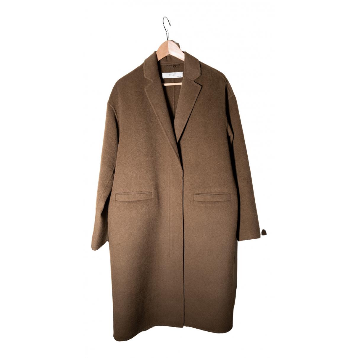 Zara - Manteau   pour femme en laine - vert