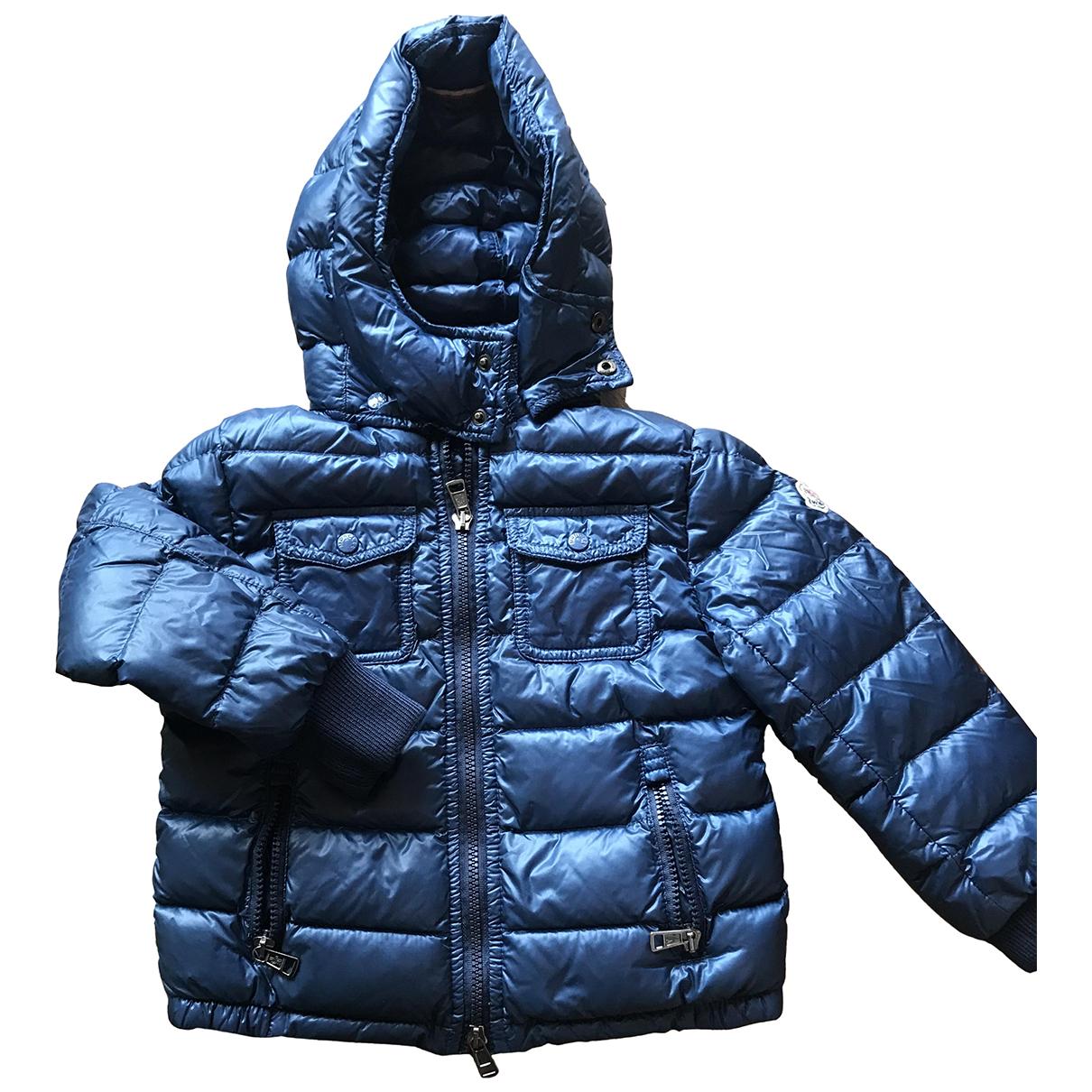 Moncler Hood Jacke, Maentel in  Blau Synthetik