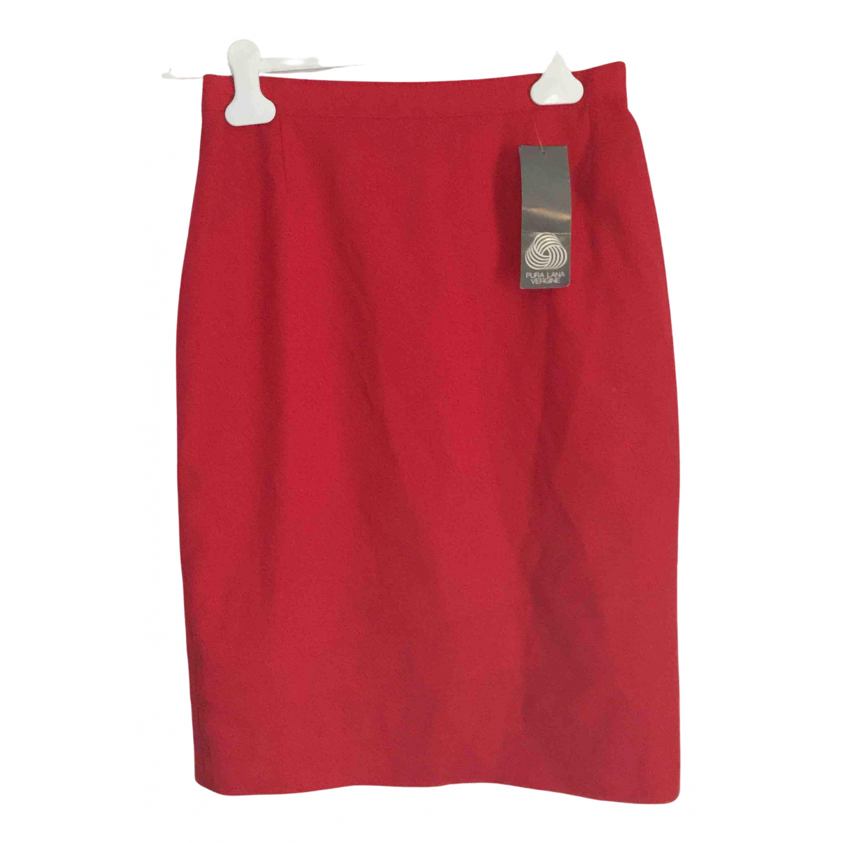 Non Signé / Unsigned N Red Wool skirt for Women 40 IT