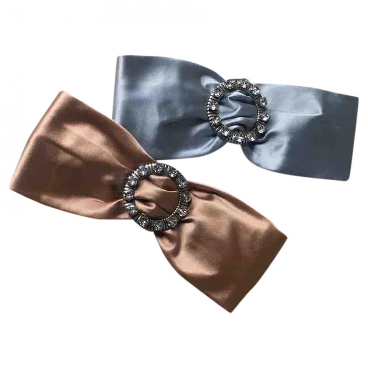 Miu Miu - Bijoux de tete   pour femme en soie - rose