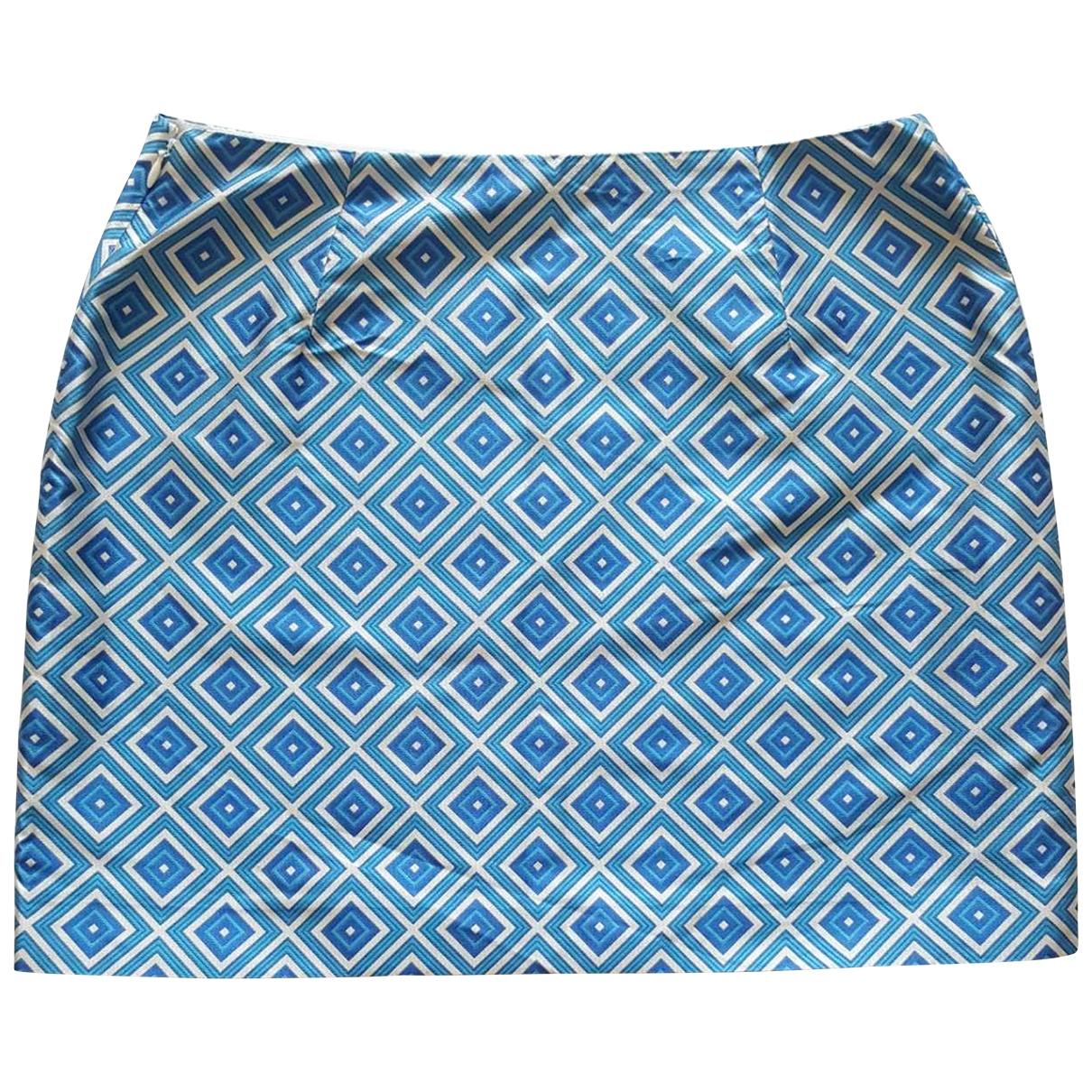 Michael Kors - Jupe   pour femme en soie - bleu