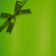 #f0011 Groove Strp Apple Green - Gift Wra - 30 X 417' - - Gift Wrapping Paper by Paper Mart