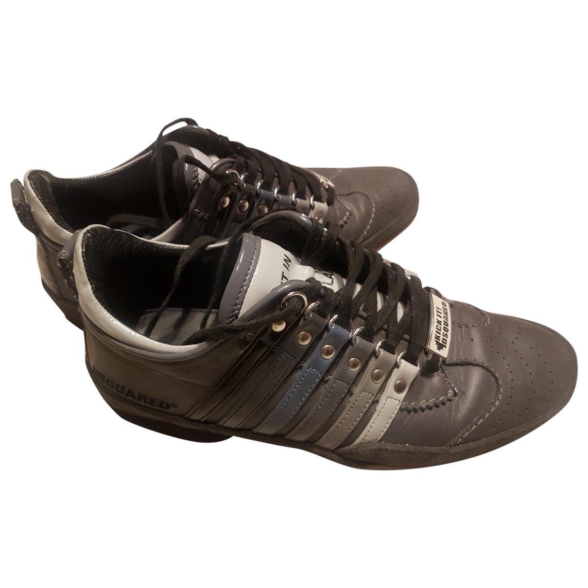 Dsquared2 \N Sneakers in  Anthrazit Leder