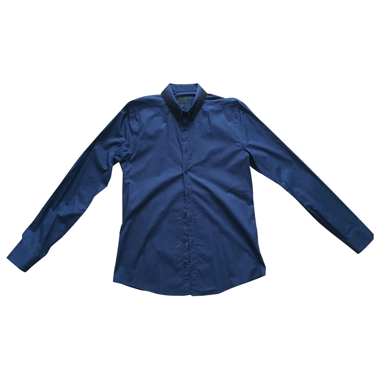 Les Hommes \N Hemden in  Marine Baumwolle