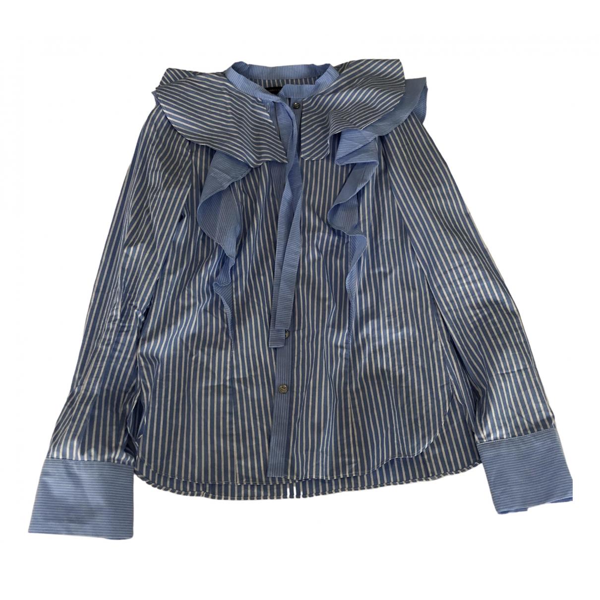 Karen Millen - Top   pour femme en coton - bleu